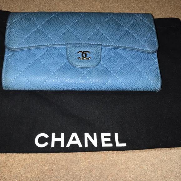 04d6193e5abf CHANEL Bags | Matelasse Caviar Classic Trifold Wallet | Poshmark